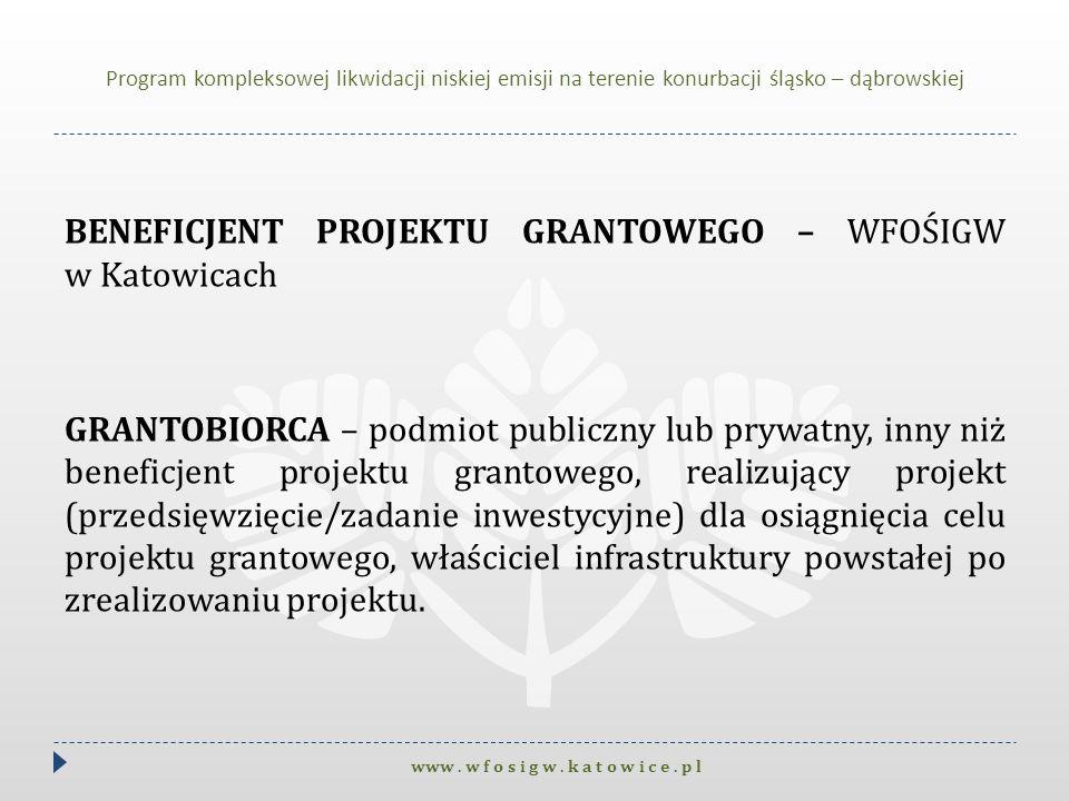 Program kompleksowej likwidacji niskiej emisji na terenie konurbacji śląsko – dąbrowskiej
