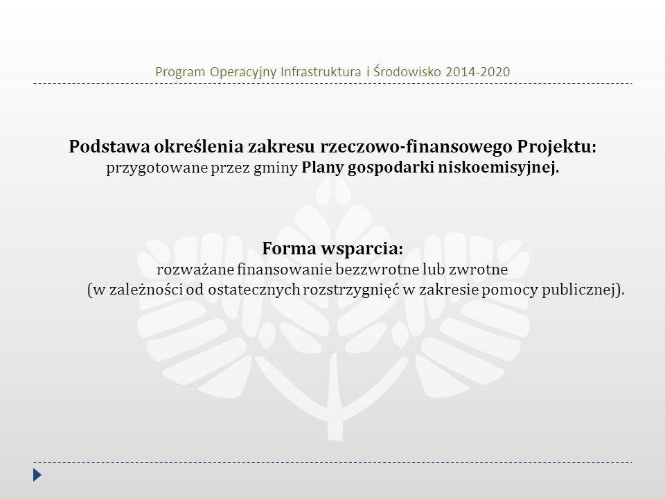 Program Operacyjny Infrastruktura i Środowisko 2014-2020