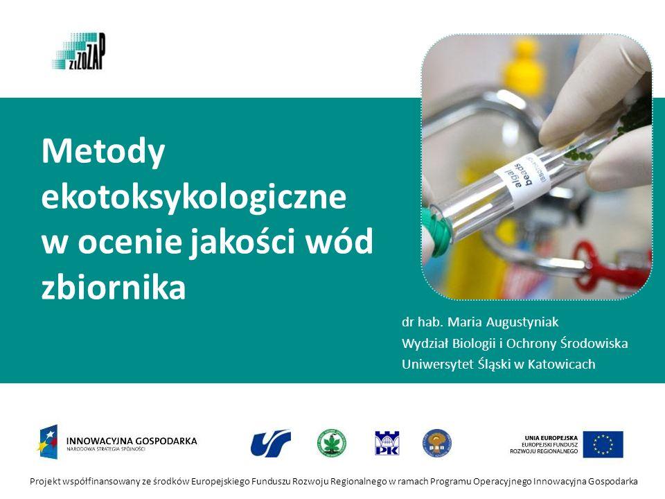 Metody ekotoksykologiczne w ocenie jakości wód zbiornika