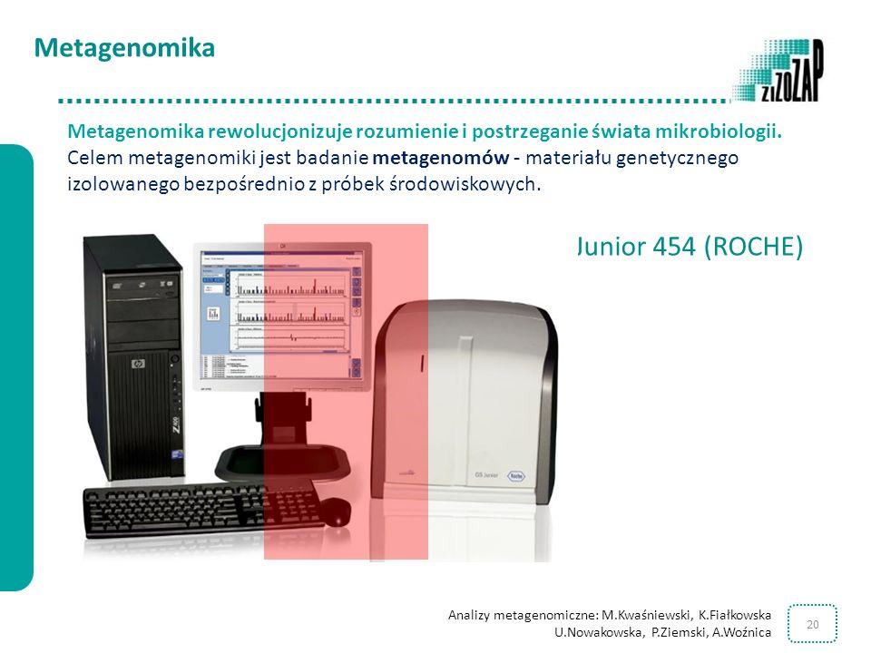 Metagenomika Junior 454 (ROCHE)