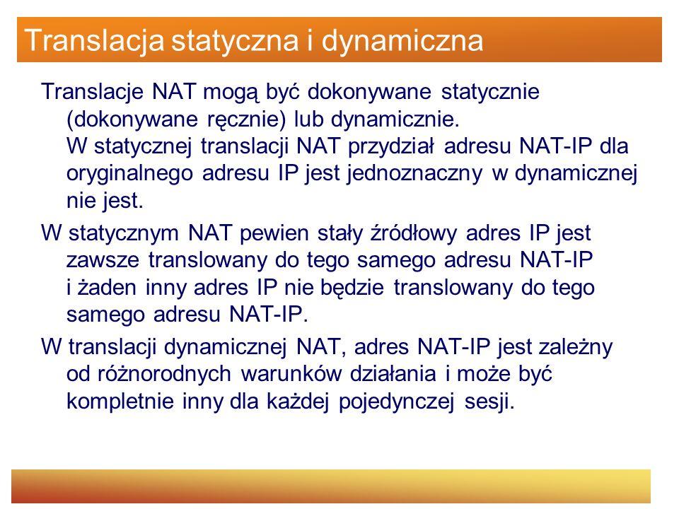 Translacja statyczna i dynamiczna