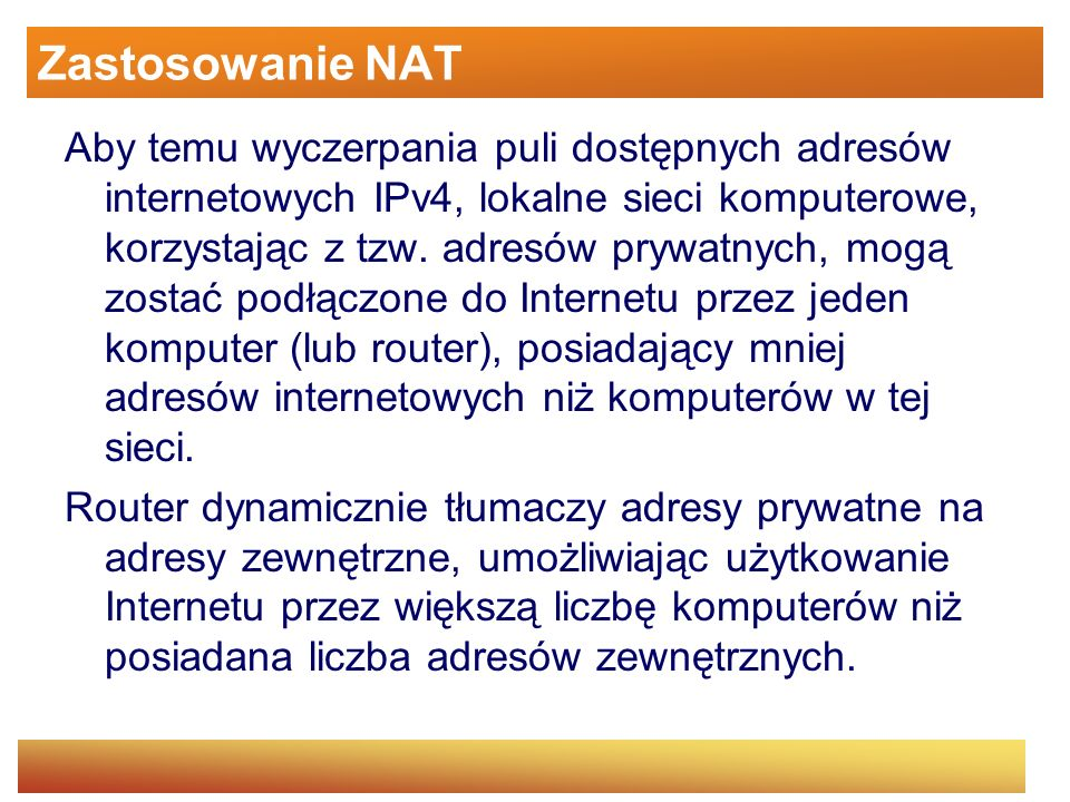 Zastosowanie NAT