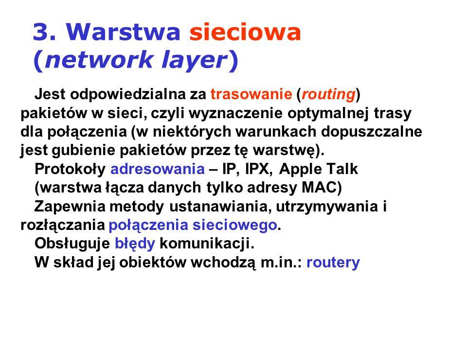 3. Warstwa sieciowa (network layer)