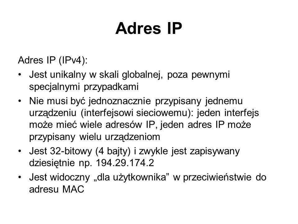 Adres IP Adres IP (IPv4):