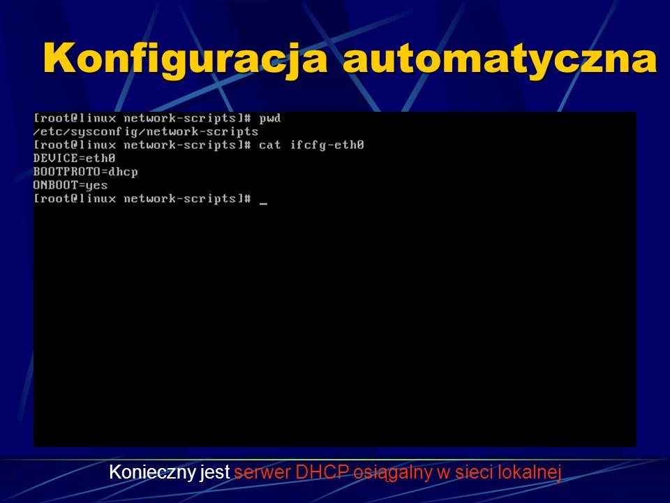 Konfiguracja automatyczna