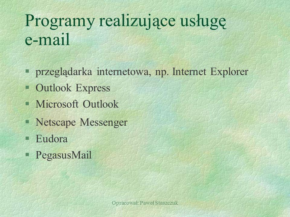 Programy realizujące usługę e-mail