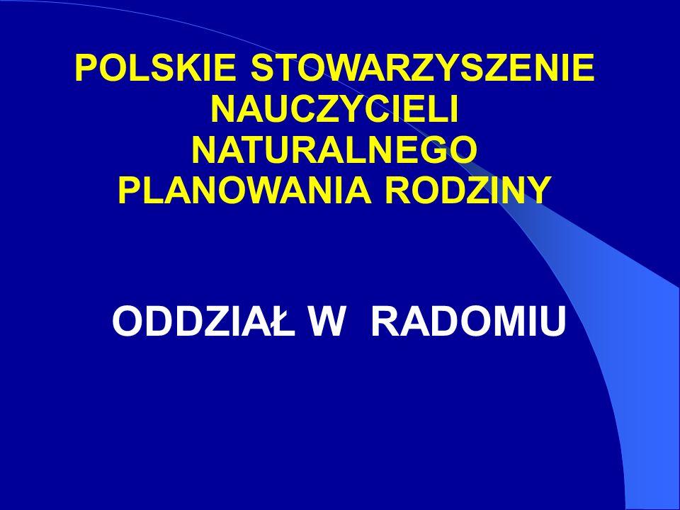 POLSKIE STOWARZYSZENIE NAUCZYCIELI NATURALNEGO PLANOWANIA RODZINY