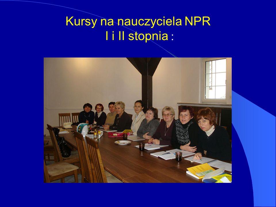 Kursy na nauczyciela NPR I i II stopnia :