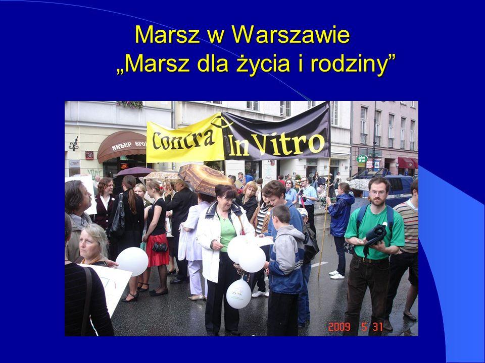 """Marsz w Warszawie """"Marsz dla życia i rodziny"""
