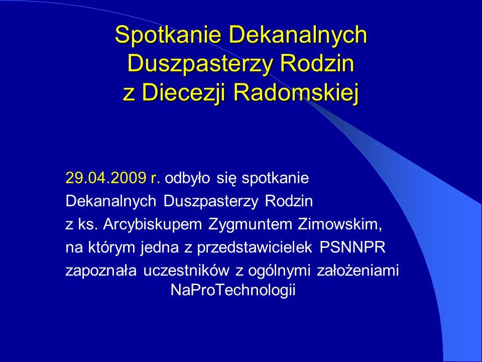 Spotkanie Dekanalnych Duszpasterzy Rodzin z Diecezji Radomskiej