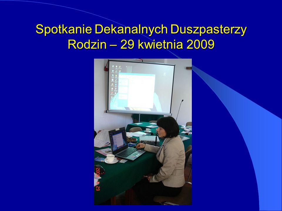 Spotkanie Dekanalnych Duszpasterzy Rodzin – 29 kwietnia 2009