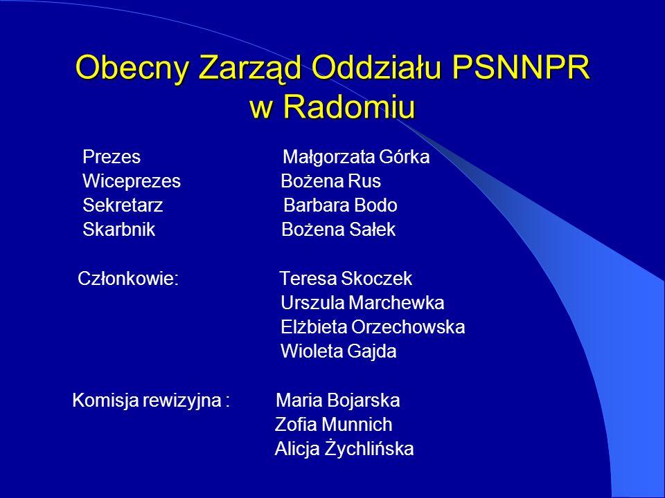 Obecny Zarząd Oddziału PSNNPR w Radomiu