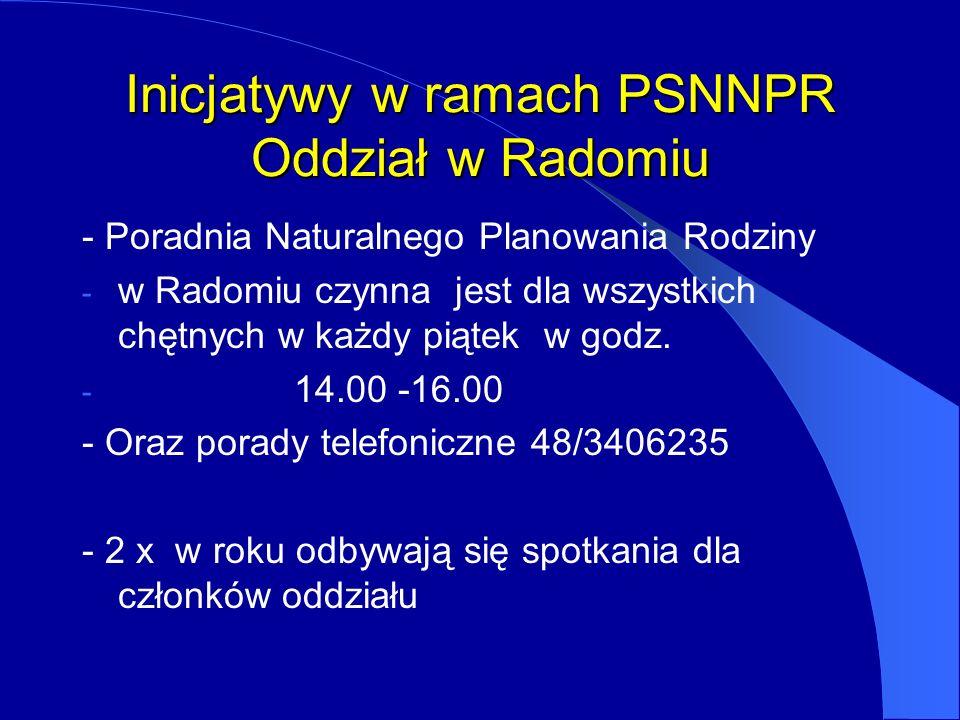 Inicjatywy w ramach PSNNPR Oddział w Radomiu