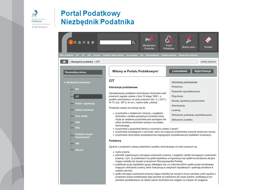 Portal Podatkowy Niezbędnik Podatnika