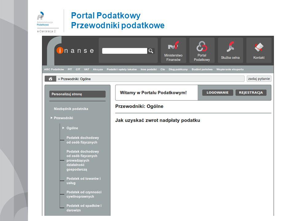 Portal Podatkowy Przewodniki podatkowe