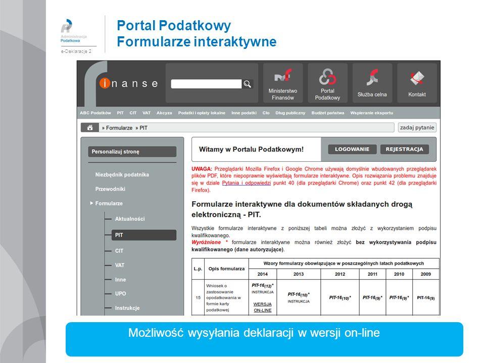 Portal Podatkowy Formularze interaktywne