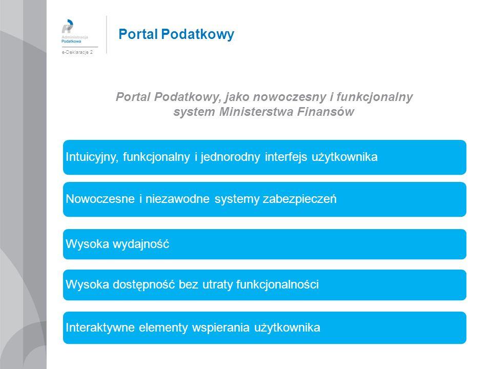 Portal Podatkowy e-Deklaracje 2. Portal Podatkowy, jako nowoczesny i funkcjonalny. system Ministerstwa Finansów.