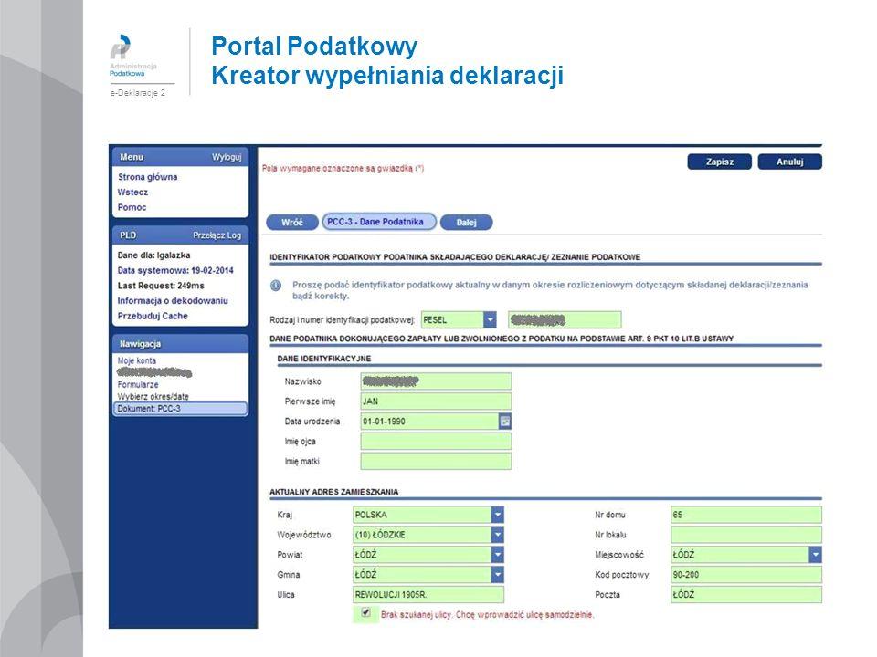 Portal Podatkowy Kreator wypełniania deklaracji