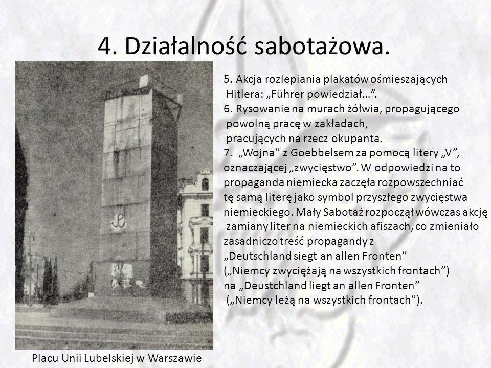 4. Działalność sabotażowa.