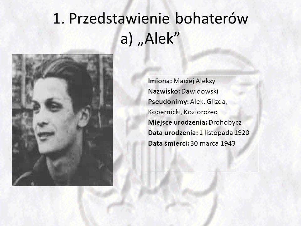 """1. Przedstawienie bohaterów a) """"Alek"""