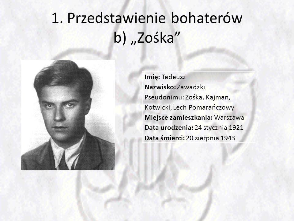 """1. Przedstawienie bohaterów b) """"Zośka"""
