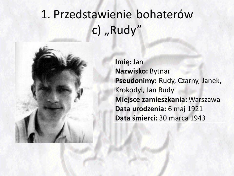 """1. Przedstawienie bohaterów c) """"Rudy"""