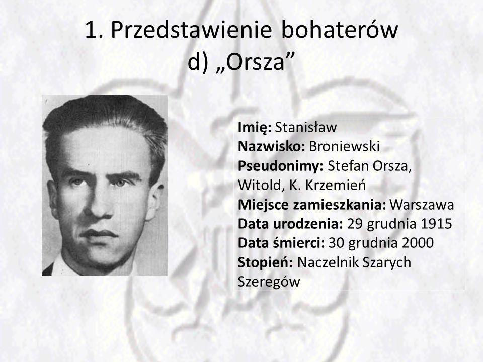 """1. Przedstawienie bohaterów d) """"Orsza"""