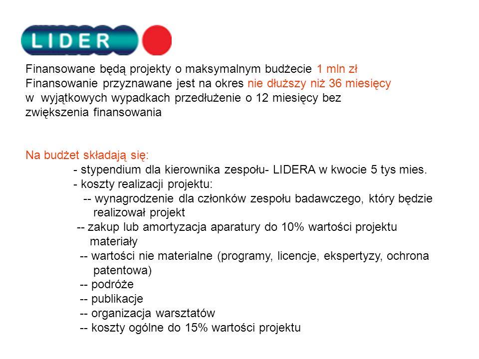 Finansowane będą projekty o maksymalnym budżecie 1 mln zł
