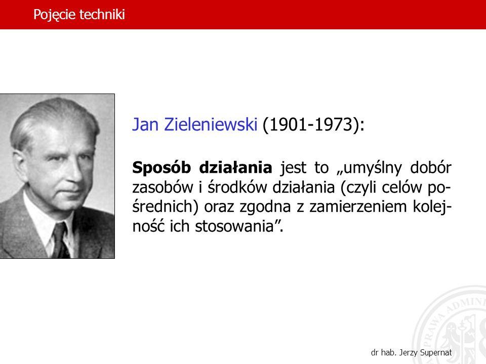Pojęcie techniki Jan Zieleniewski (1901-1973):