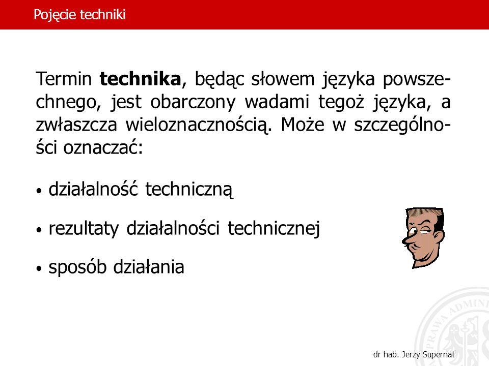działalność techniczną rezultaty działalności technicznej