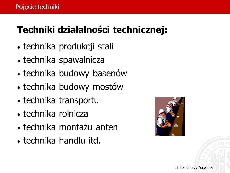 Techniki działalności technicznej: technika produkcji stali