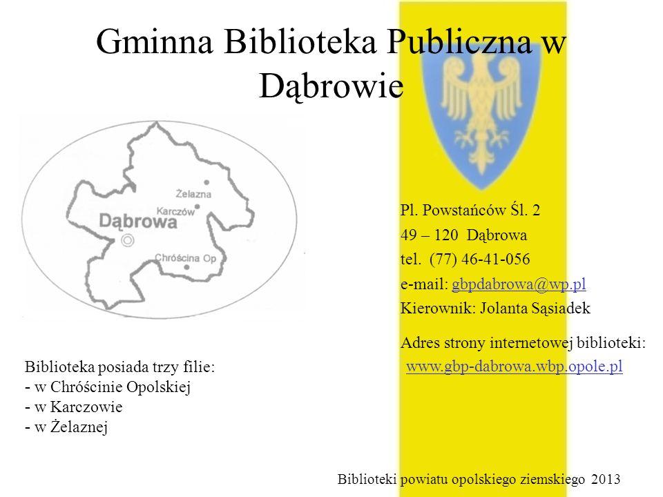 Gminna Biblioteka Publiczna w Dąbrowie