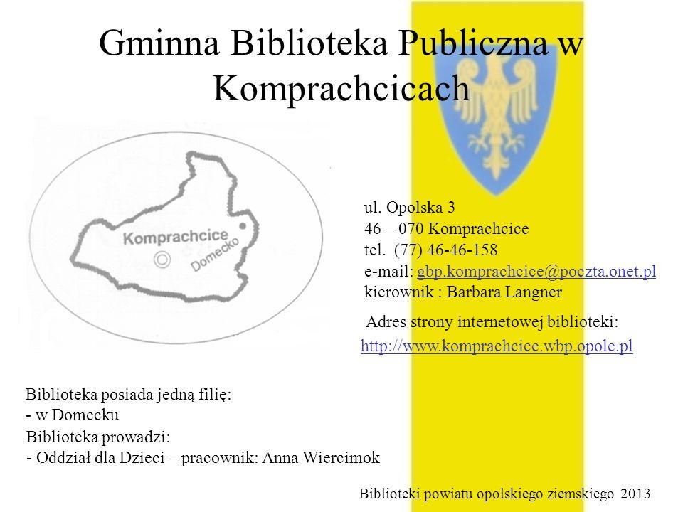 Gminna Biblioteka Publiczna w Komprachcicach