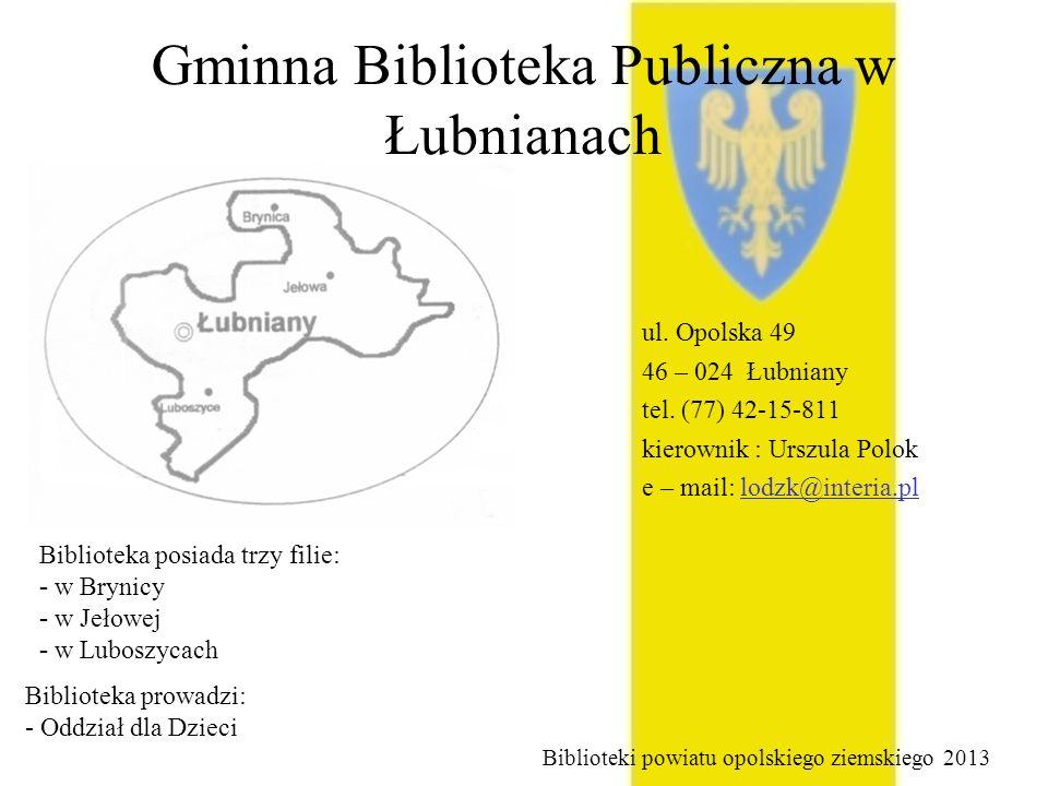 Gminna Biblioteka Publiczna w Łubnianach