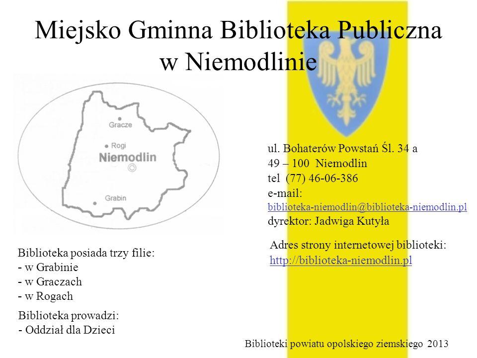 Miejsko Gminna Biblioteka Publiczna w Niemodlinie