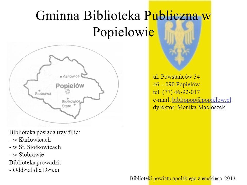Gminna Biblioteka Publiczna w Popielowie