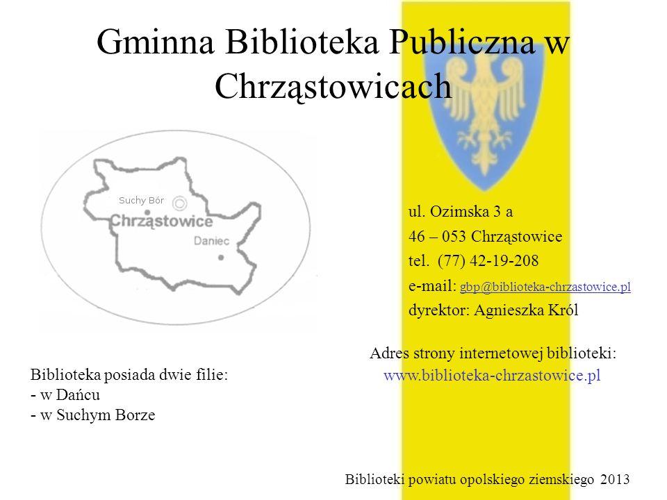 Gminna Biblioteka Publiczna w Chrząstowicach