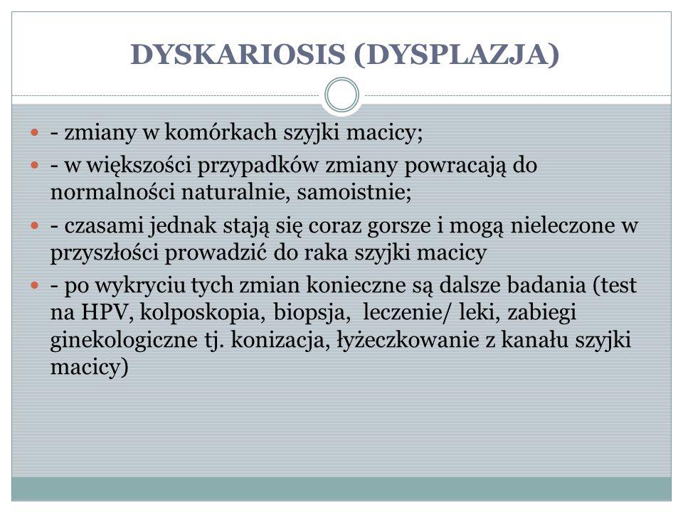 DYSKARIOSIS (DYSPLAZJA)