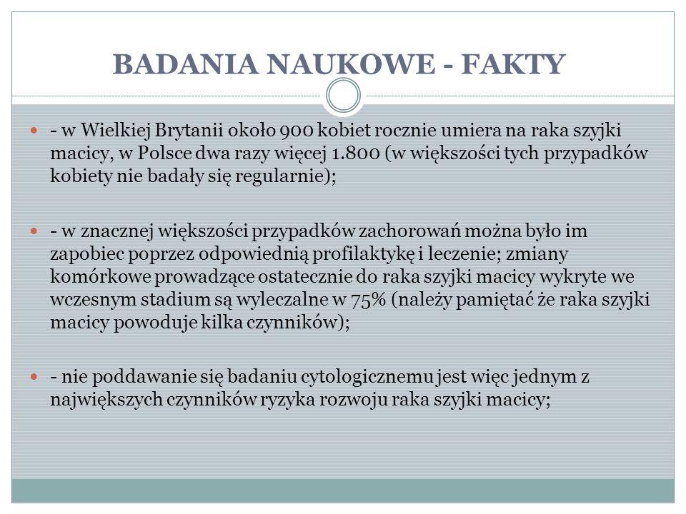 BADANIA NAUKOWE - FAKTY