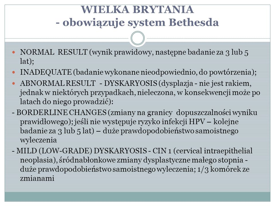 WIELKA BRYTANIA - obowiązuje system Bethesda