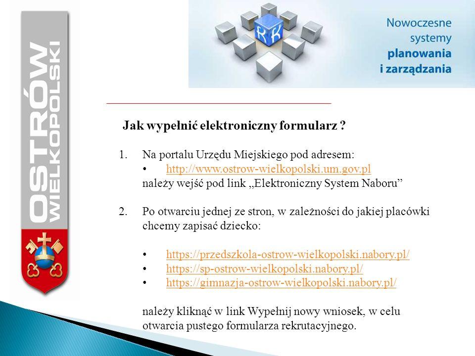 Jak wypełnić elektroniczny formularz
