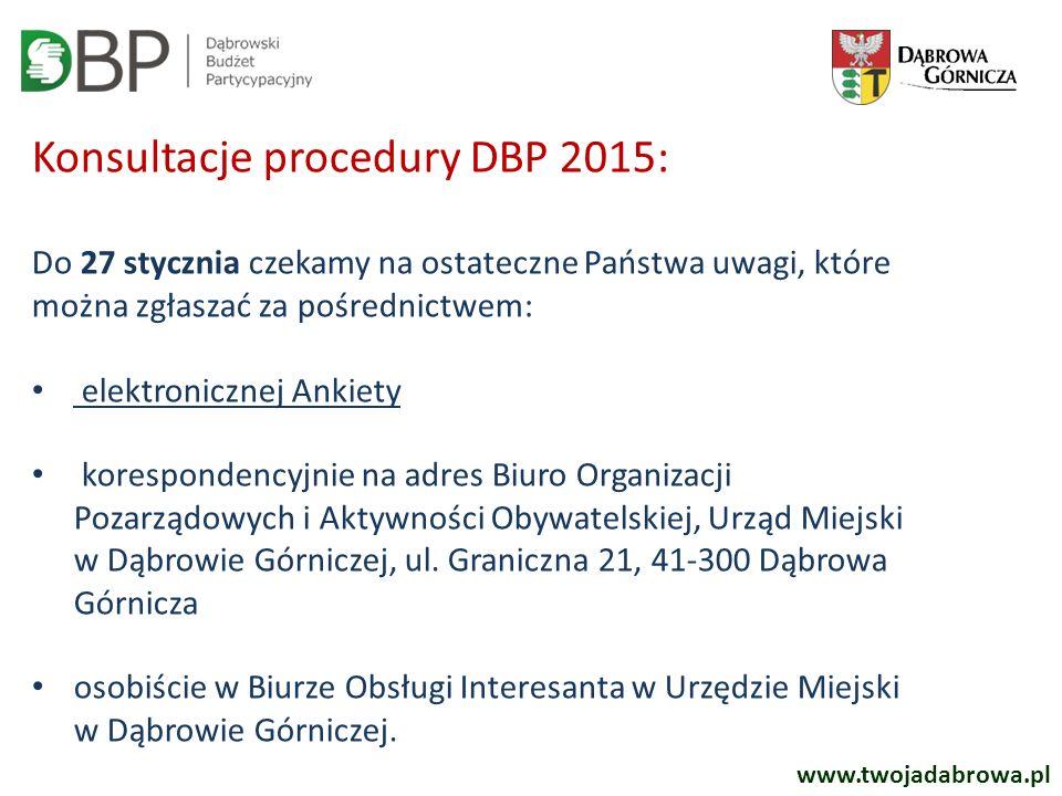 Konsultacje procedury DBP 2015: