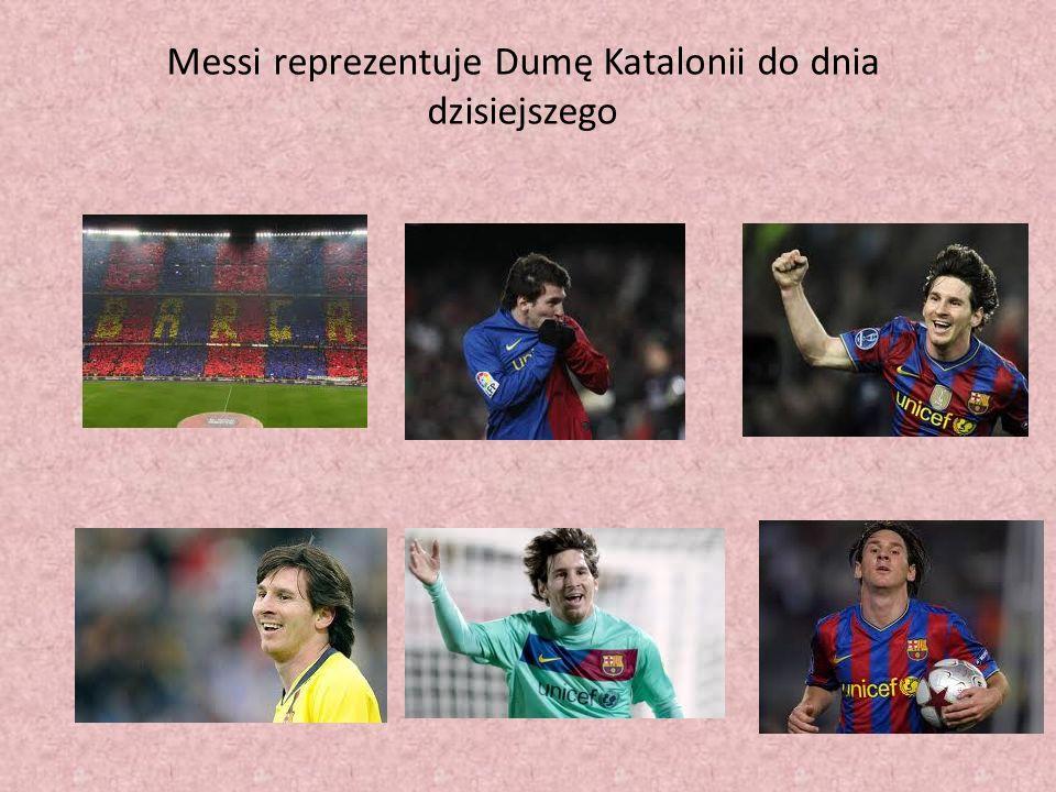 Messi reprezentuje Dumę Katalonii do dnia dzisiejszego