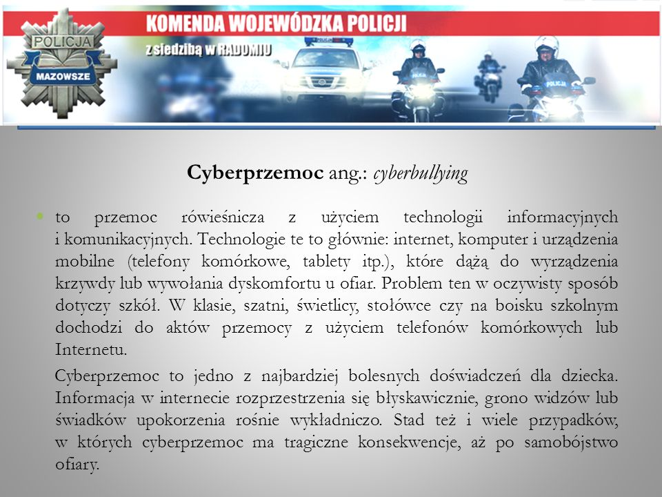 Cyberprzemoc ang.: cyberbullying