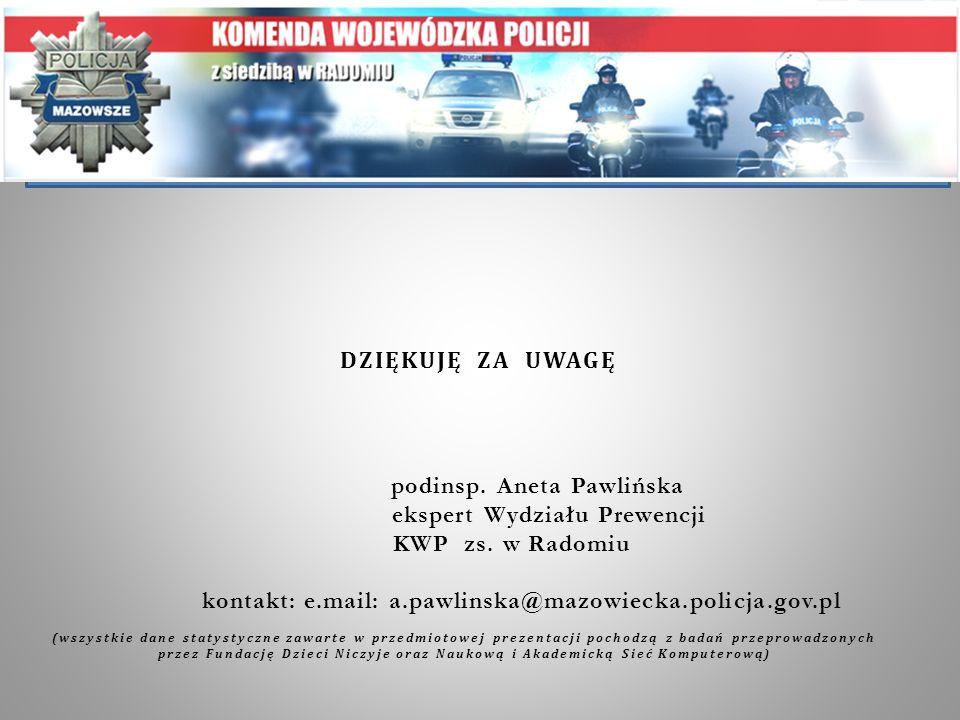 podinsp. Aneta Pawlińska ekspert Wydziału Prewencji