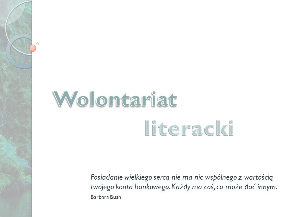Wolontariat literacki