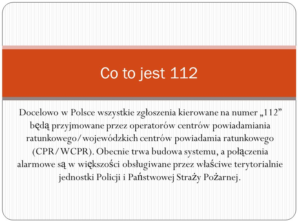 Co to jest 112