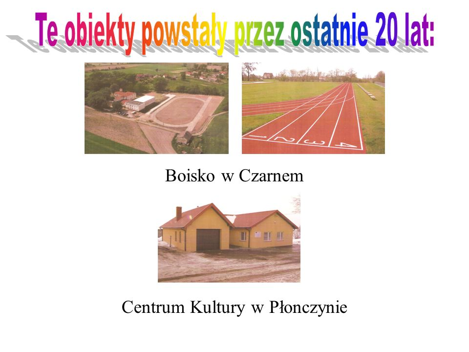 Boisko w Czarnem Centrum Kultury w Płonczynie