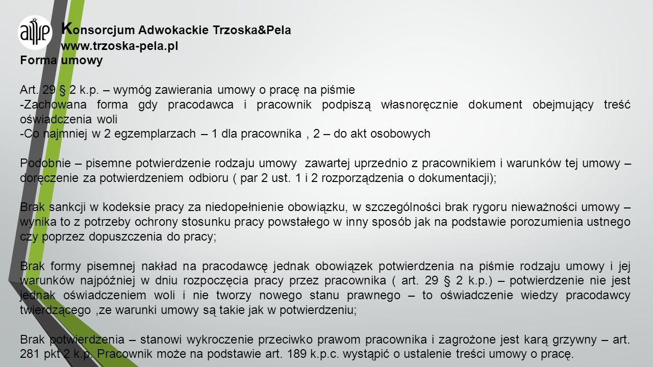 Konsorcjum Adwokackie Trzoska&Pela