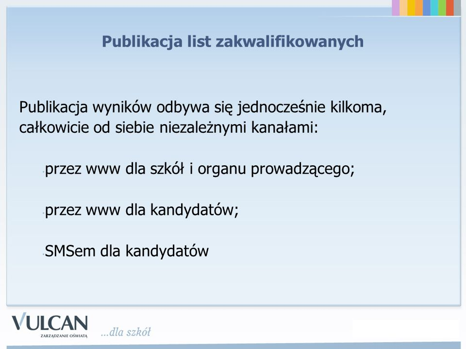Publikacja list zakwalifikowanych